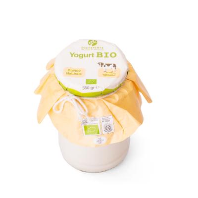 402 - bianco - yogurt - 550 ml in vetro - occhipinti - latticini di fattoria - modica