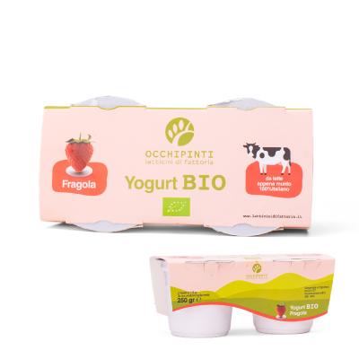 410 - fragola - yogurt - 125ml*2 - occhipinti - latticini di fattoria - modica