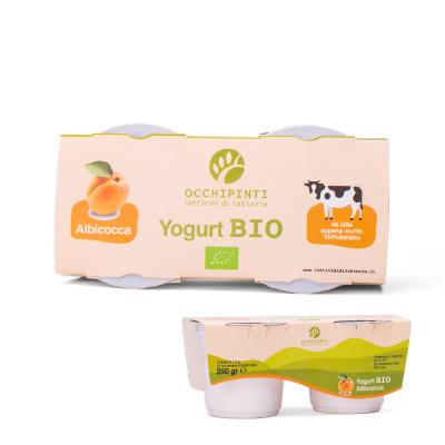 420 - albicocca - yogurt - 125ml*2 - occhipinti - latticini di fattoria - modica