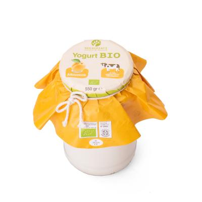422 - albicocca - yogurt - 550 ml in vetro - occhipinti - latticini di fattoria - modica