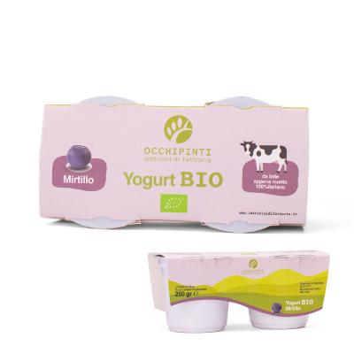 440 - mirtillo - yogurt - 125ml*2 - occhipinti - latticini di fattoria - modica