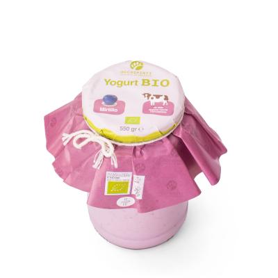 442 - mirtillo - yogurt - 550 ml in vetro - occhipinti - latticini di fattoria - modica